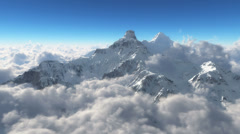 Mountain snow clouds Stock Footage