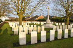 Cemetery great world war one flanders belgium Stock Photos