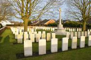Stock Photo of cemetery great world war one flanders belgium