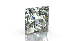 Princess Cut Diamond Stock Footage