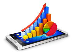 Stock Illustration of Mobile finance and analytics concept