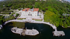 Vizcaya Garden and Museum Miami Stock Footage