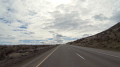 Fast Lane Pass High Desert Freeway Driving POV Timelapse Stock Footage