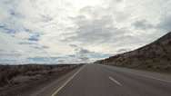 Stock Video Footage of Fast Lane Pass High Desert Freeway Driving POV Timelapse
