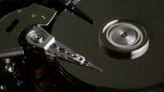Hard Disk Platters Stop Spinning as Needle Dwindles Stock Footage