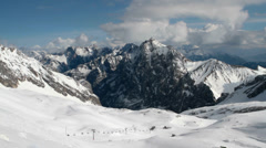 Alpine panorama from the Zugspitze Stock Footage