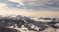 Stock Video Footage of Winter Timelapse Pinzgau