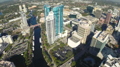 Downtown Ft. Lauderdale aerial video Stock Footage