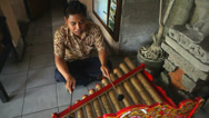 Stock Video Footage of Bali busker. Editorial