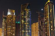 Stock Photo of general view of dubai at night
