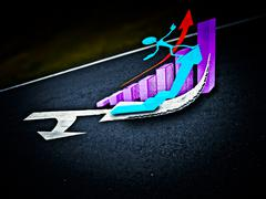 arrows are marked on a highway to show direction, success concept - stock illustration