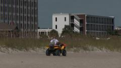Beach Patrol Dune Buggy Stock Footage