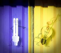 save energy, concept - stock illustration