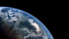 Orbit around CG Planet Earth 1080/24p - stock footage
