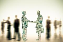 Businessmen shaking hands Stock Illustration