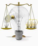 alternative energy, weight balance, concept - stock illustration
