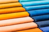Stock Photo of multi color fabric texture samples