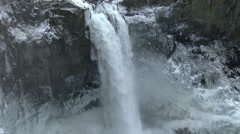 Waterfall, Winter, Ice, Frozen, Snow Stock Footage