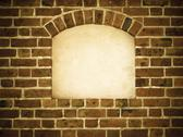 Stock Photo of old arch arc niche with copy space in brick wall background