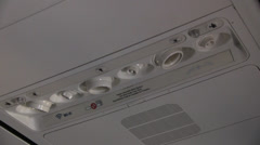 Overhead Control Panel In Plane Stock Footage