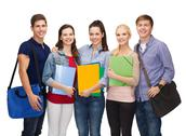 Stock Photo of group of smiling students standing