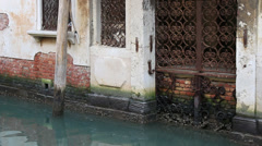 Water damage to Venice building - stock footage