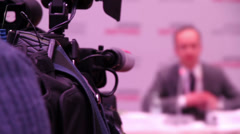 Speaker at the Conference HD - stock footage
