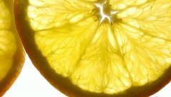 Juicy orange slice Stock Footage