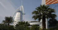 Stock Video Footage of Ultra HD 4K Dubai Burj Al Arab Hotel Beautiful Building United Arab Emirates