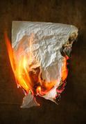 Burning paper Stock Photos