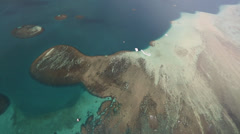 Aerial Shot over the coral reef-oafu Hawaii Stock Footage