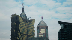 The hotel Lisboa casino in Macau shot in HD - stock footage