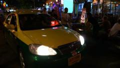 Bangkok, Khaosan road, cafe, people. Thailand. Stock Footage
