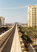 Stock Photo of monorail at the palm jumeirah in dubai