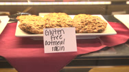 Stock Video Footage of cafe cookies oatmeal raisin