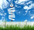 Stock Illustration of signboard and blue sky
