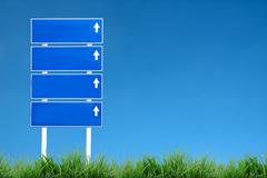 Signboard and blue sky Stock Illustration
