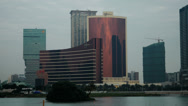 Stock Video Footage of The Wynn hotel and casino resort in Macau shot in HD