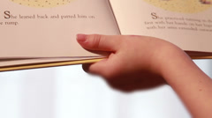 Child Reading Book Stock Footage