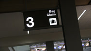 Stock Video Footage of Bag Claim Sign