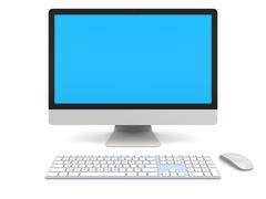 desktop computer - stock illustration
