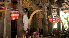 Stock Video Footage of Inside the Temple of Sacred Tooth Relic (Kandy, Sri Lanka).