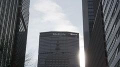 Met-Life Building in New York City Stock Footage