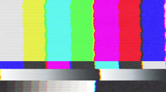 Test pattern TV, bad signal (24 fps) Stock Footage
