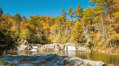 Upper Pond with Waterfalls at Linville Falls, NC Stock Footage