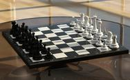 Stock Illustration of chess on a glass table
