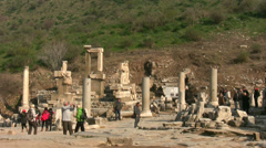 Ephesus one of the Seven Wonders of the Ancient World. Stock Footage