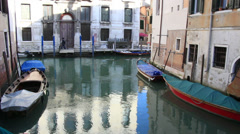 Reflections in a Venice canal Stock Footage