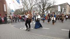 Rose monday rosenmontag karneval carnival düsseldorf germany. Stock Footage