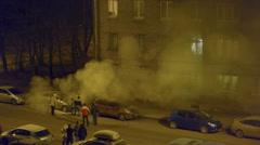 Street smoggy smoke Stock Footage